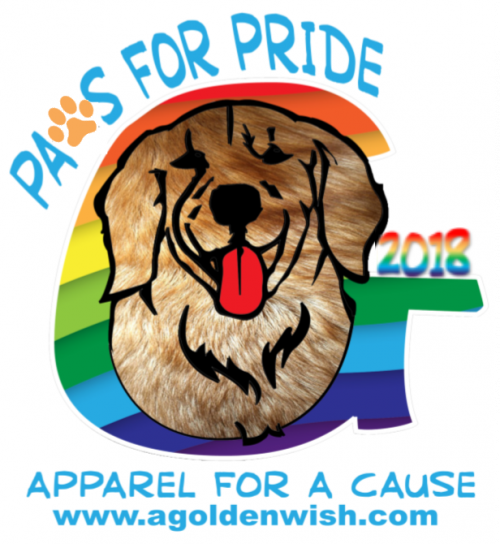 paws for pride 2018 golden retriever