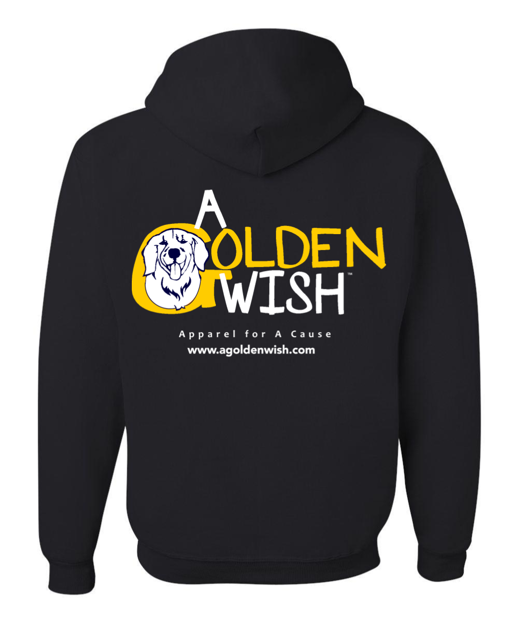 dog lover black hoodie sweatshirt golden retriever canine cancer cure