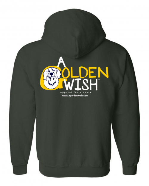 dog lover hoodie zip front sweatshirt golden retriever canine cancer cure