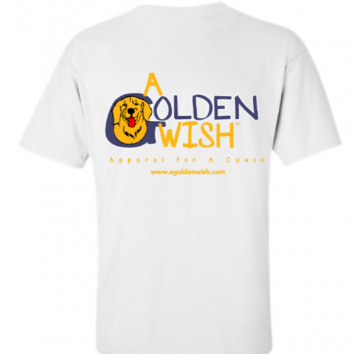 golden retriever white tshirt