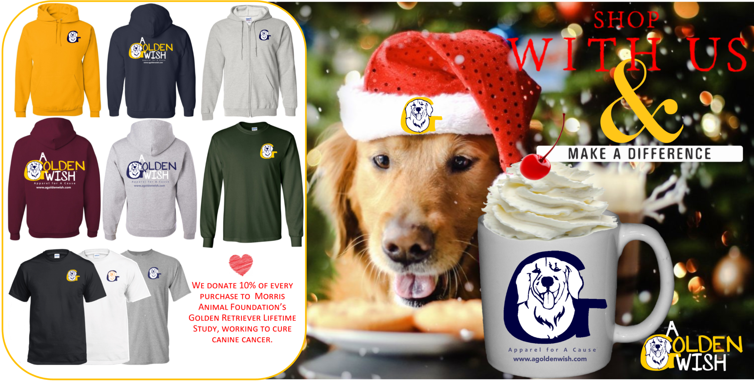 golden retriever dog apparel for a cause